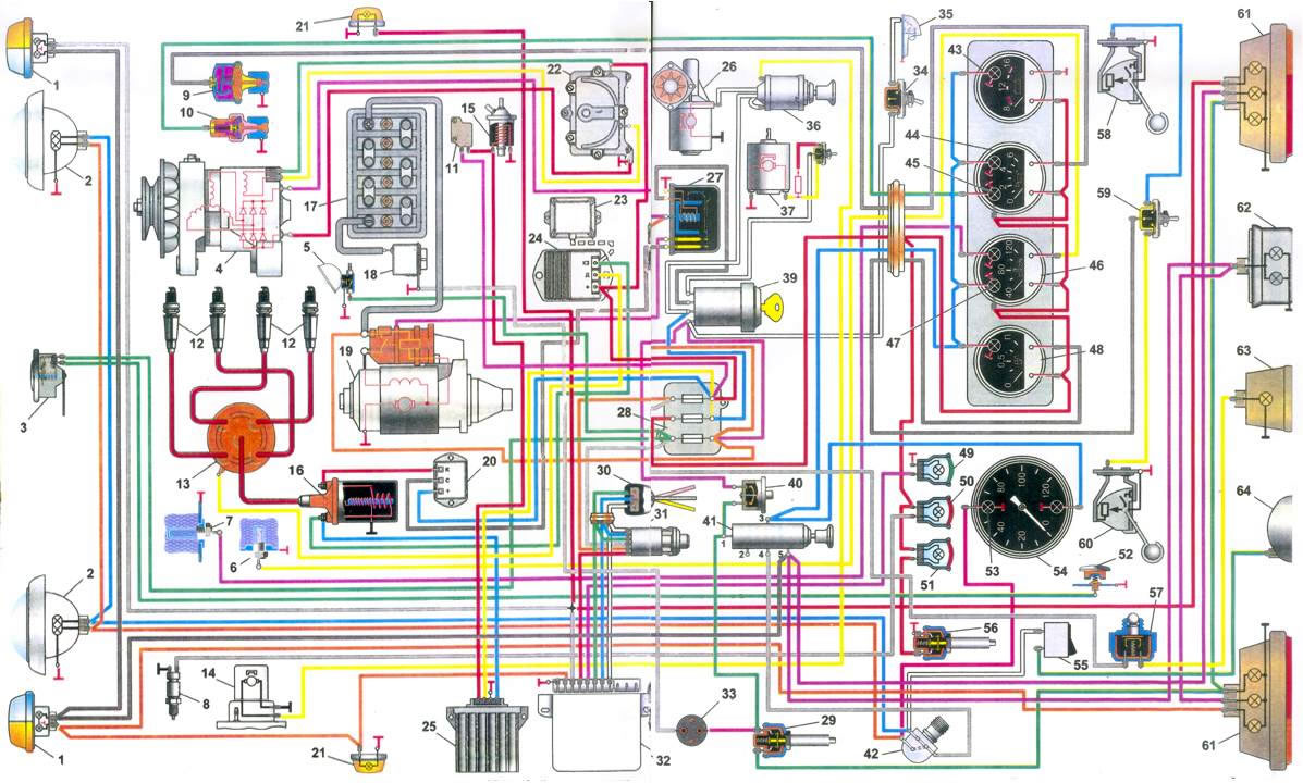 Схема электрическая уаз 315196